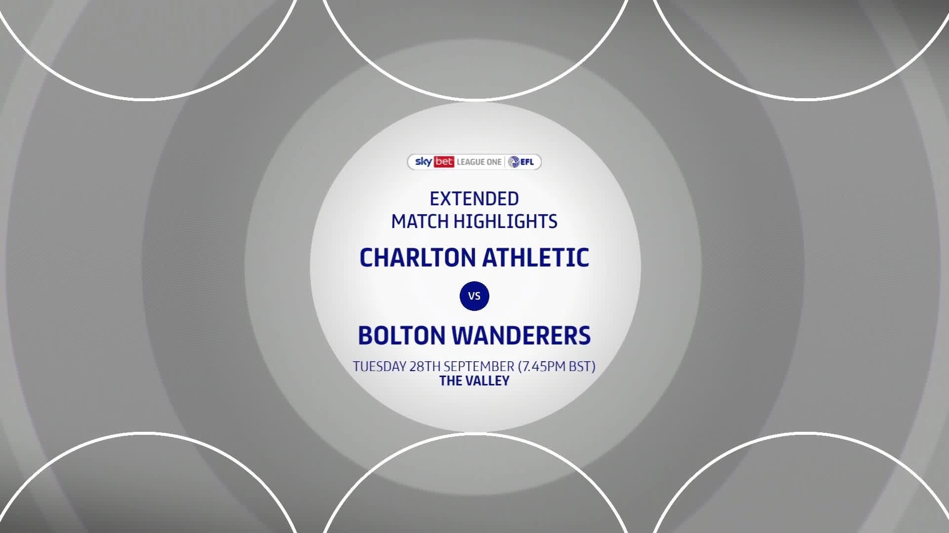 HIGHLIGHTS   Charlton 1 Bolton Wanderers 4 (September 2021)