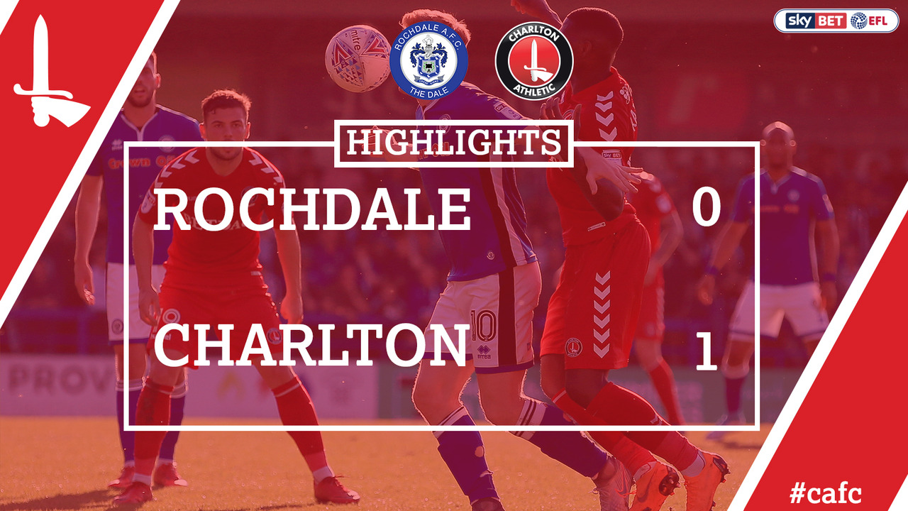 54 HIGHLIGHTS | Rochdale 1 Charlton 0 (April 2018)
