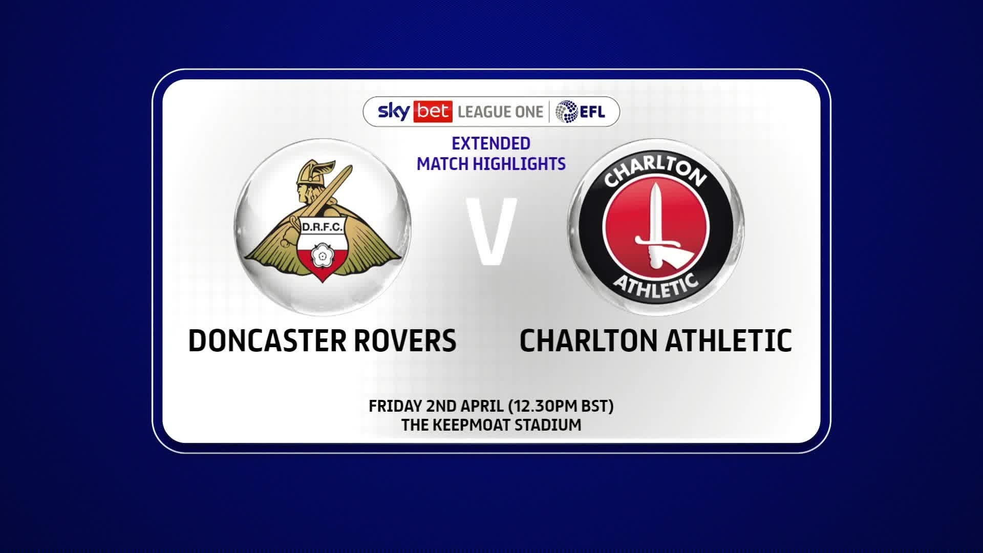 EXTENDED | Doncaster Rovers 0 Charlton 1 (April 2021)
