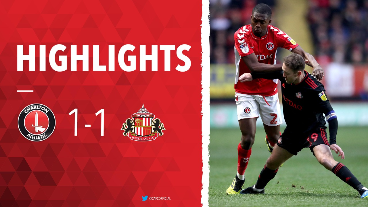 34 HIGHLIGHTS | Charlton 1 Sunderland 1 (January 2019)