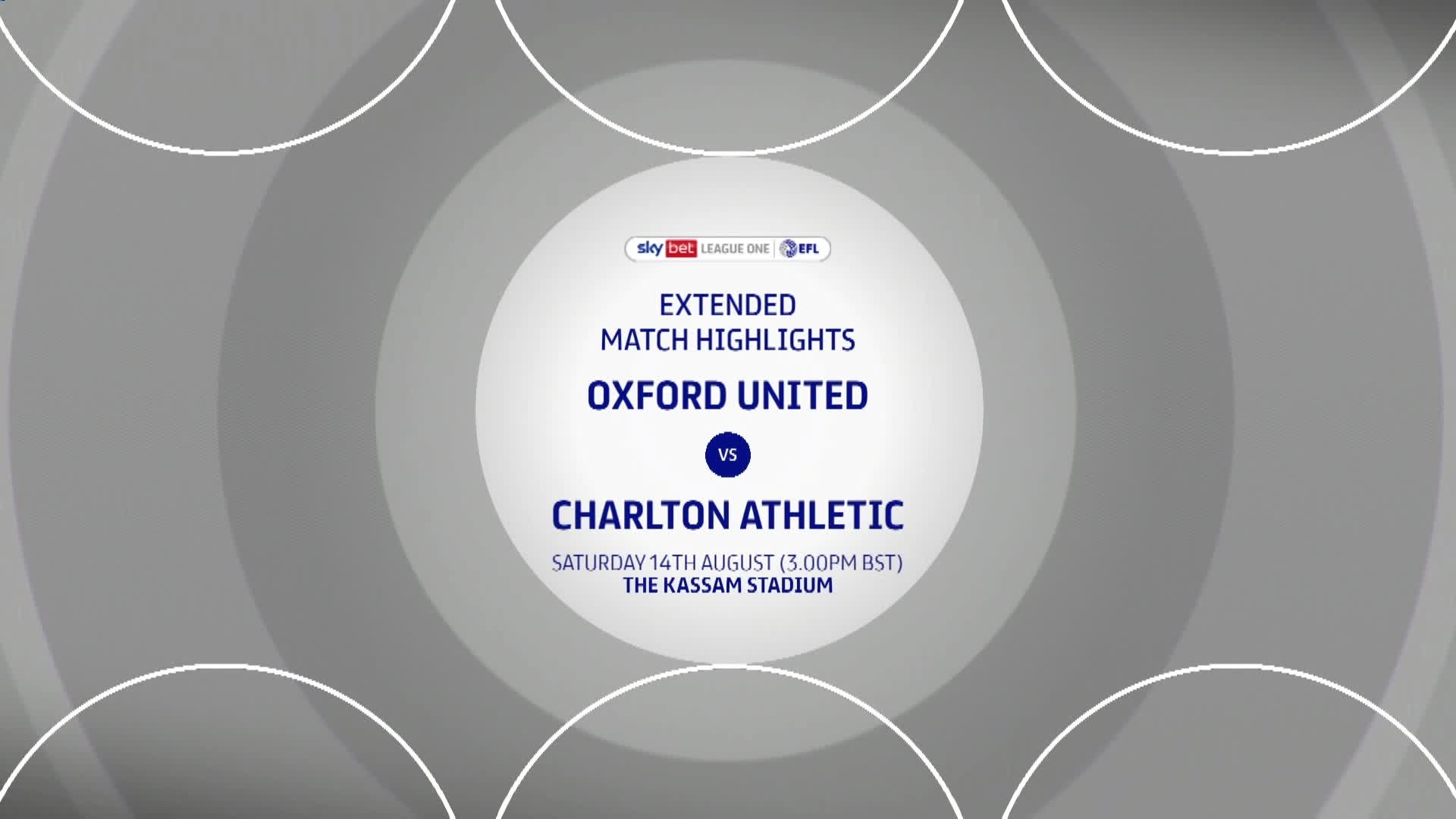 HIGHLIGHTS | Oxford United 2 Charlton 1 (August 2021)