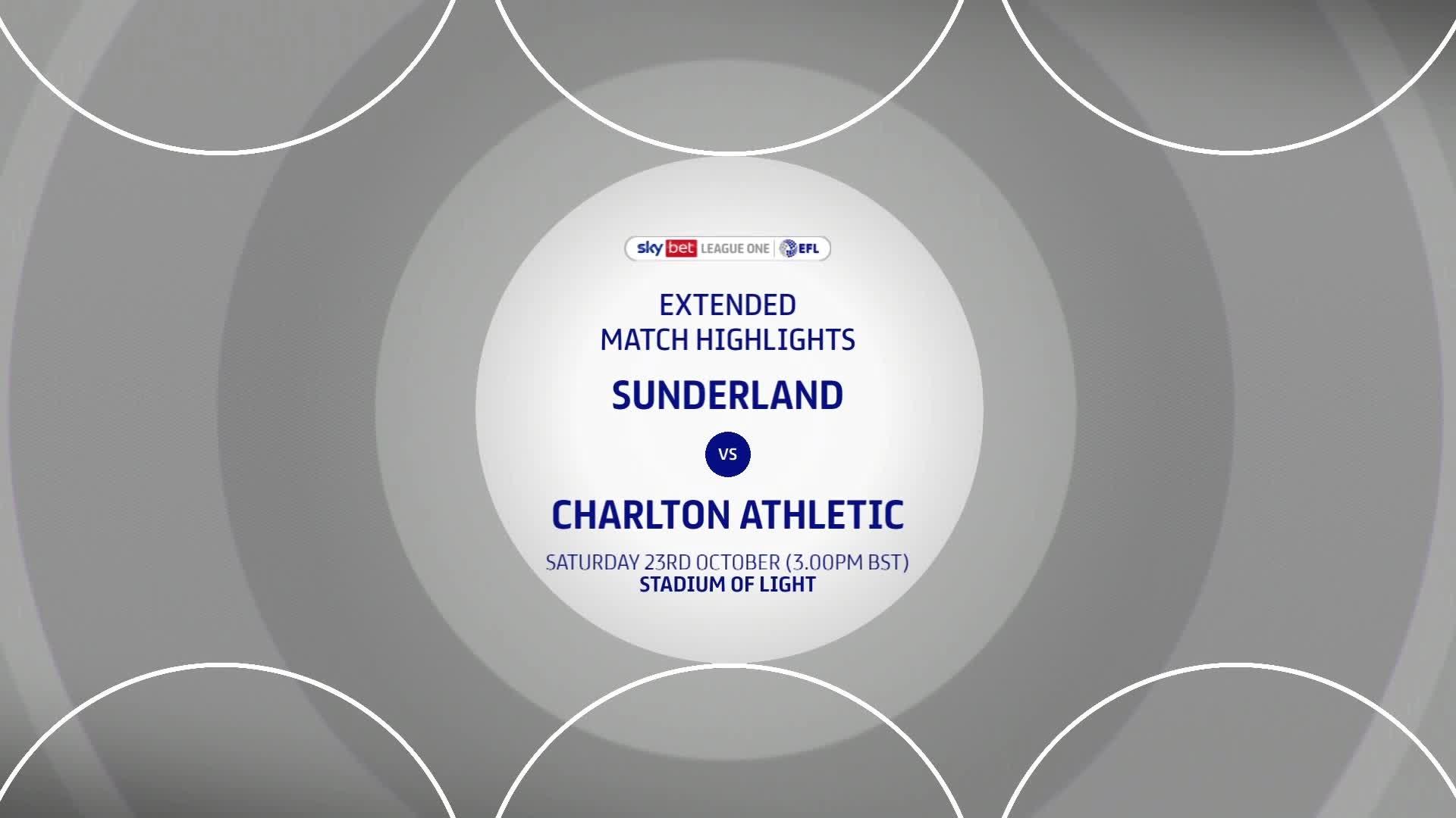 HIGHLIGHTS   Sunderland 0 Charlton 1 (October 2021)