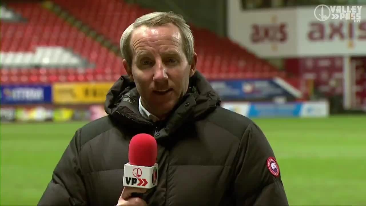 Lee Bowyer spoke following his side's loss to Portsmouth (February 2021)