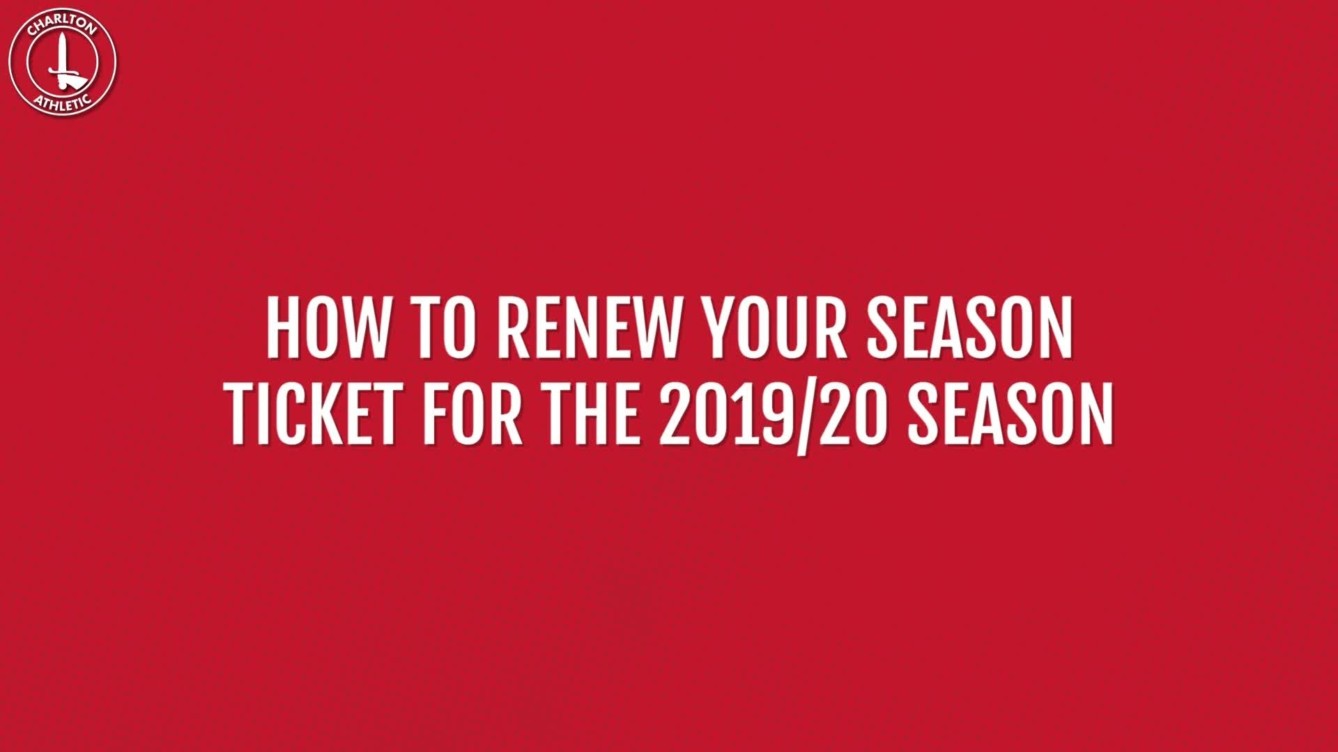 How to renew your season ticket for 2019/20 online