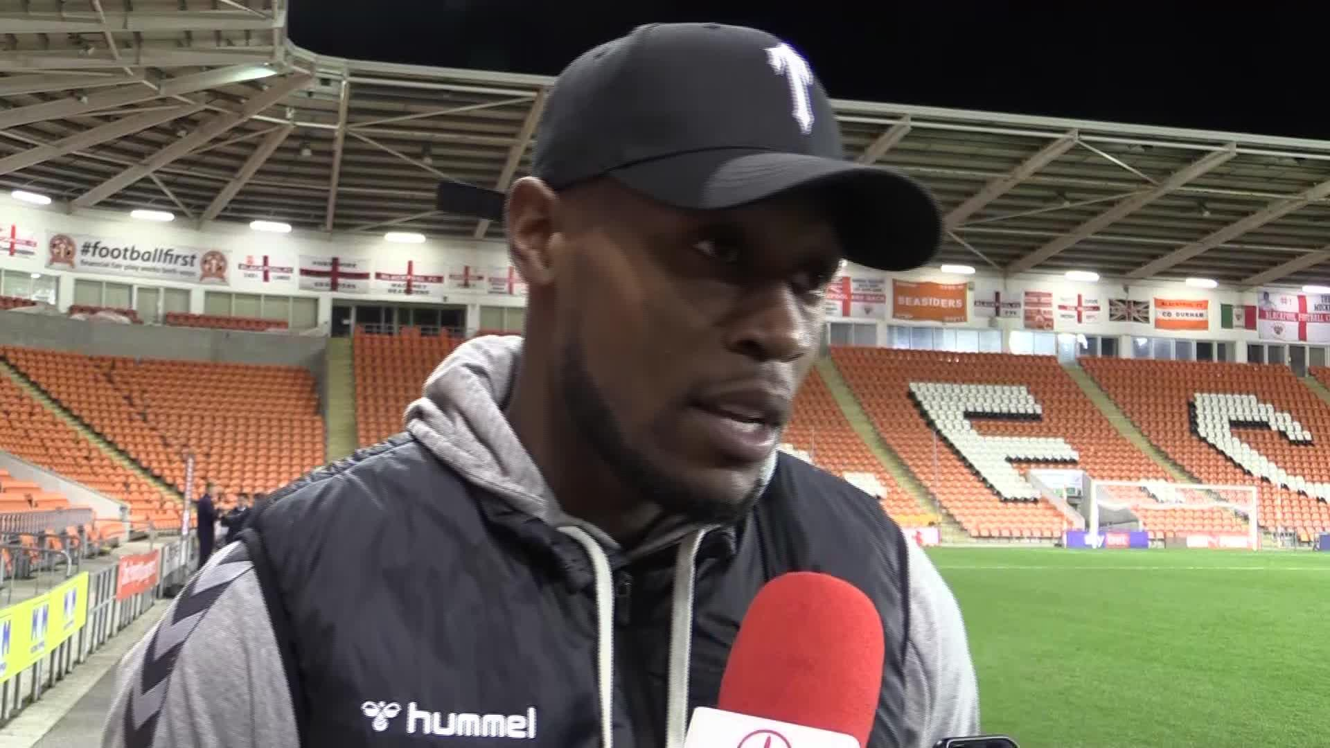 Chuks Aneke on his late goal against Blackpool and his aims for this season (October 2020)