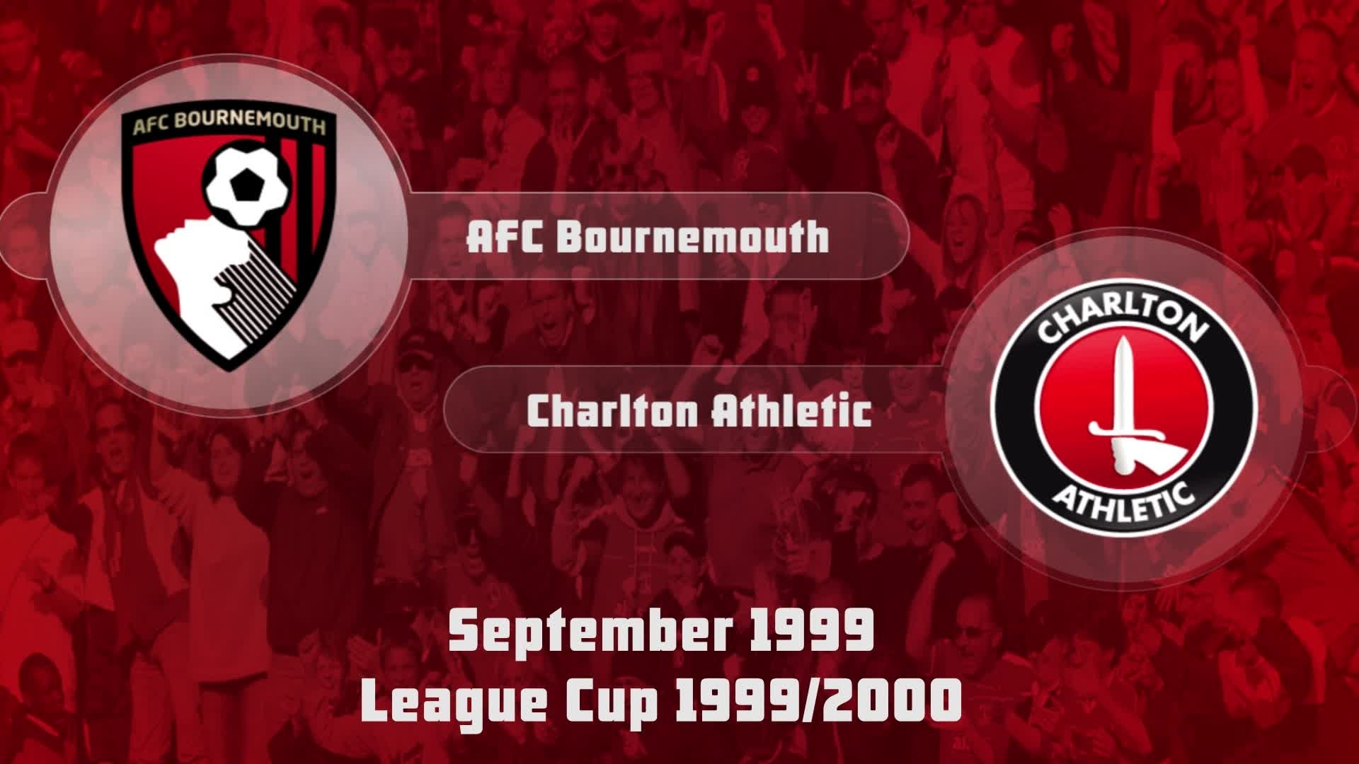 07 HIGHLIGHTS | AFC Bournemouth 0 Charlton 0 (League Cup Sept 1999)