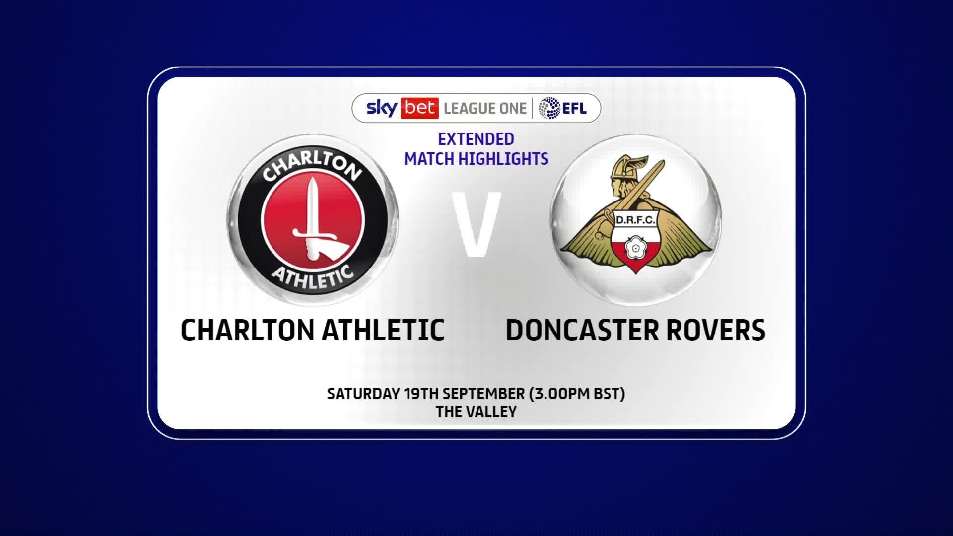 EXTENDED | Doncaster Rovers 3 Charlton 1 (September 2020)