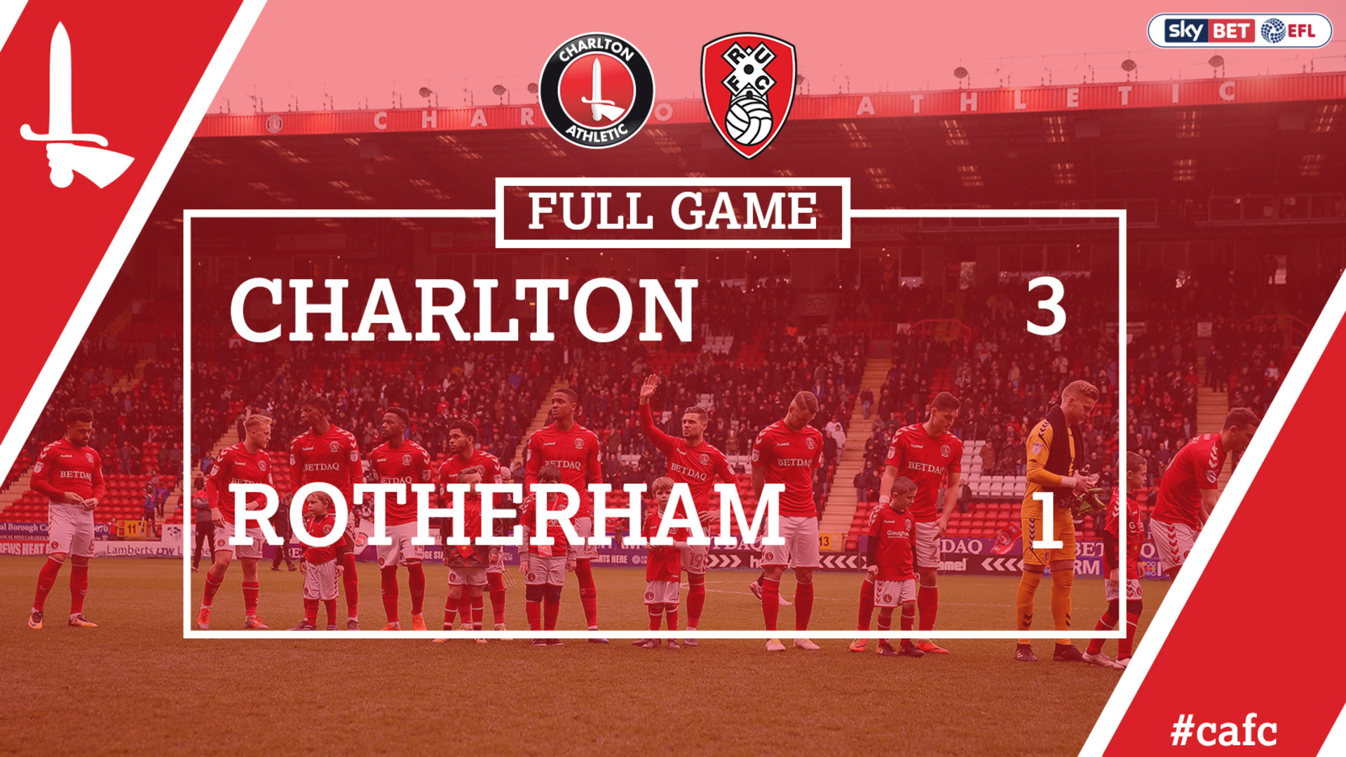 FULL GAME | Charlton 3 Rotherham 1 (April 2018)