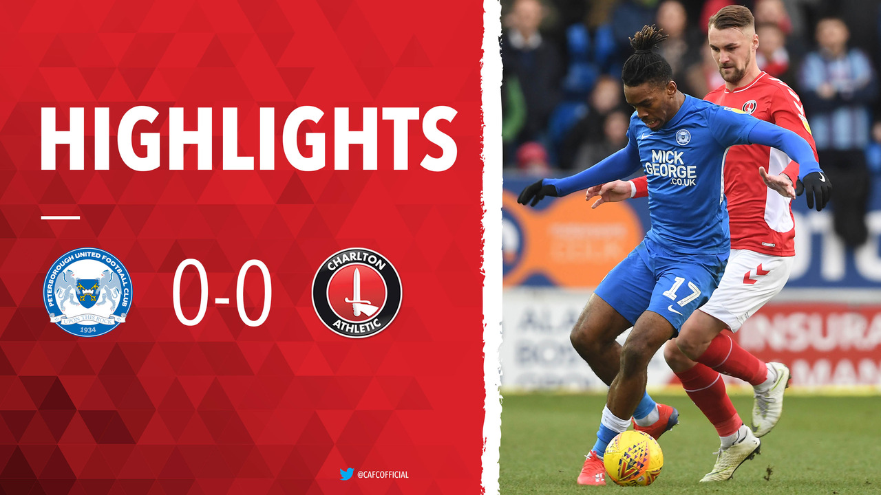 37 HIGHLIGHTS | Peterborough United 0 Charlton 0 (January 2019)
