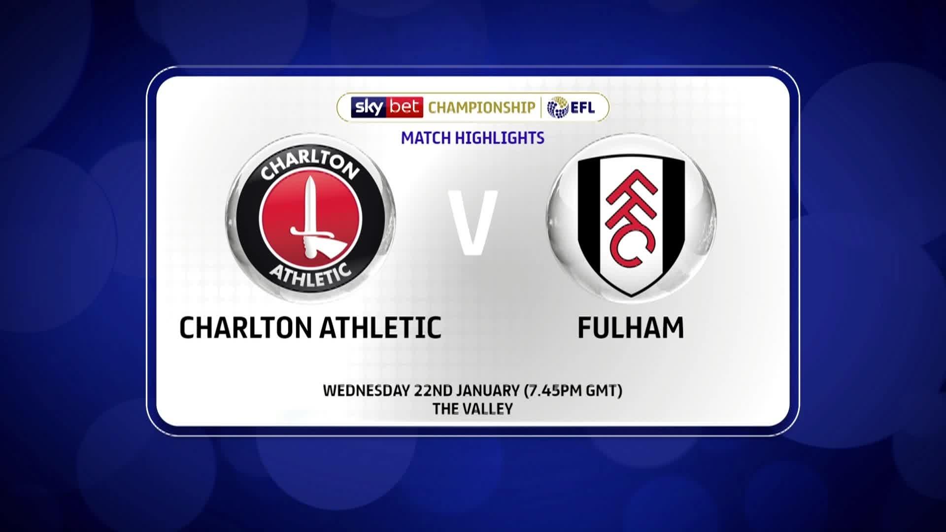 HIGHLIGHTS | Charlton 0 Fulham 0 (January 2020)