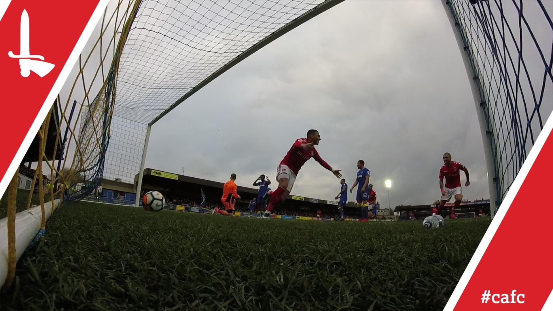GO PRO   Karlan Ahearne-Grant scores at AFC Wimbledon