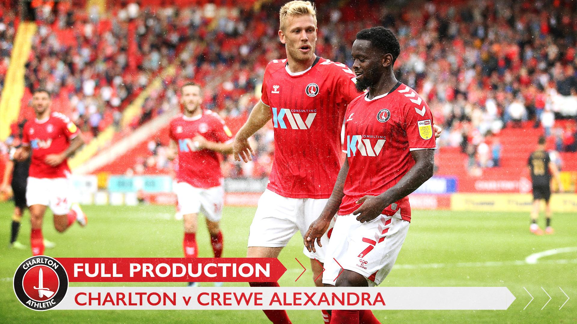 CharltonTV | Full broadcast - Crewe Alexandra (h) (August 2021)
