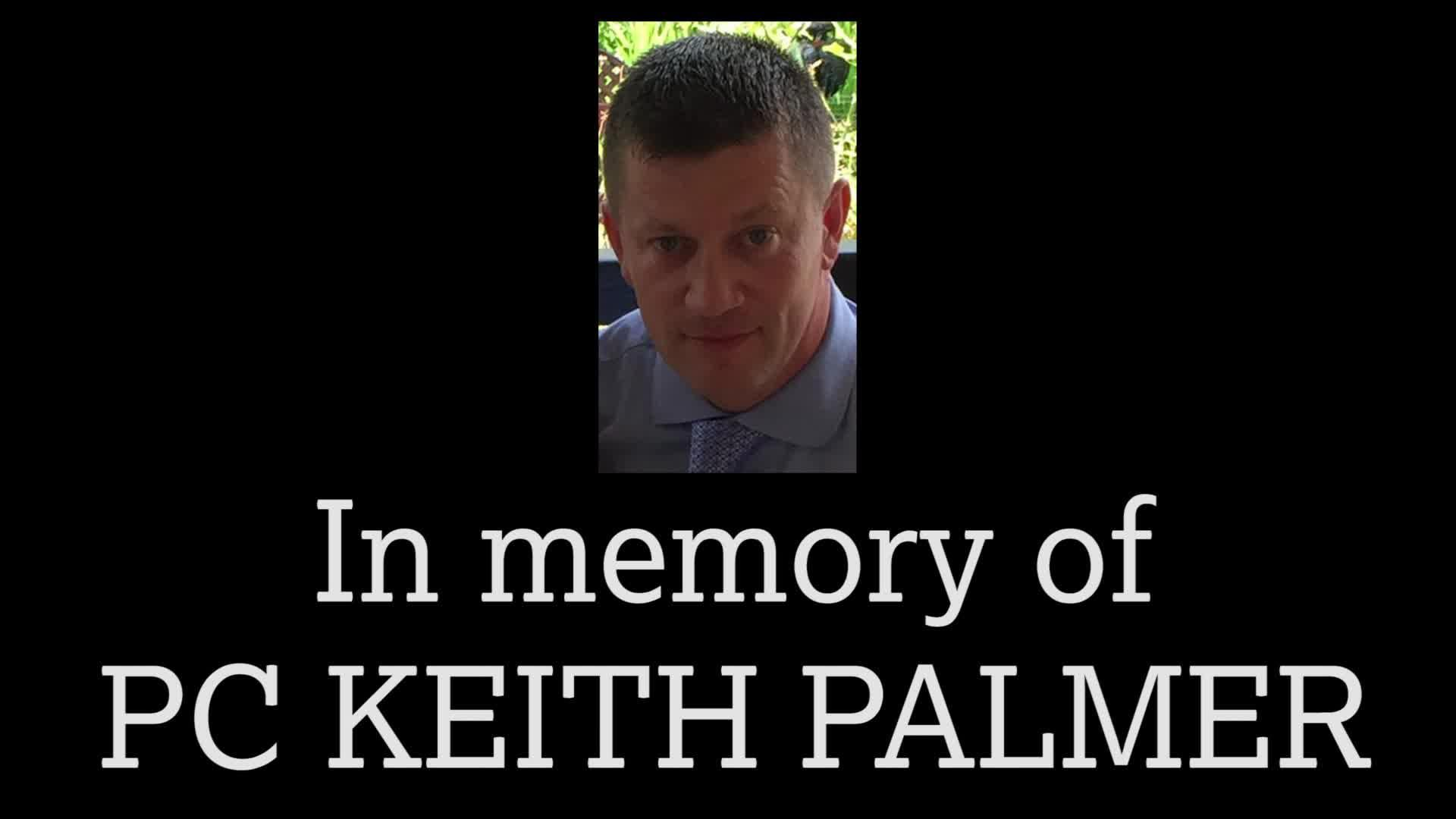 The Charlton family pay tribute to PC Keith Palmer at The Valley