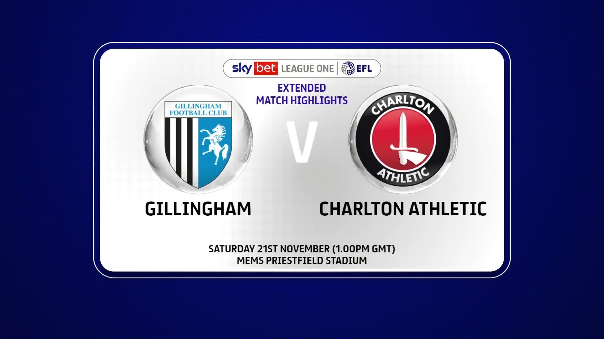 EXTENDED HIGHLIGHTS | Gillingham 1 Charlton 1 (November 2020)