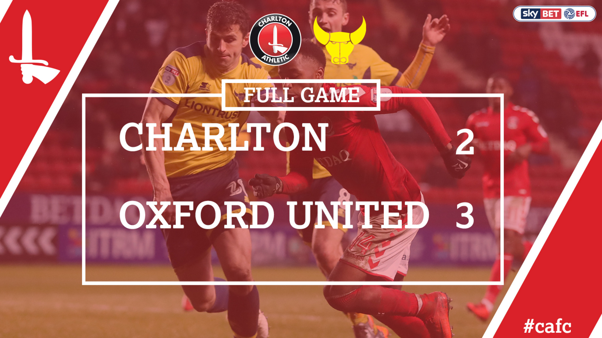 FULL GAME | Charlton 2 Oxford 3 (Feb 2018)