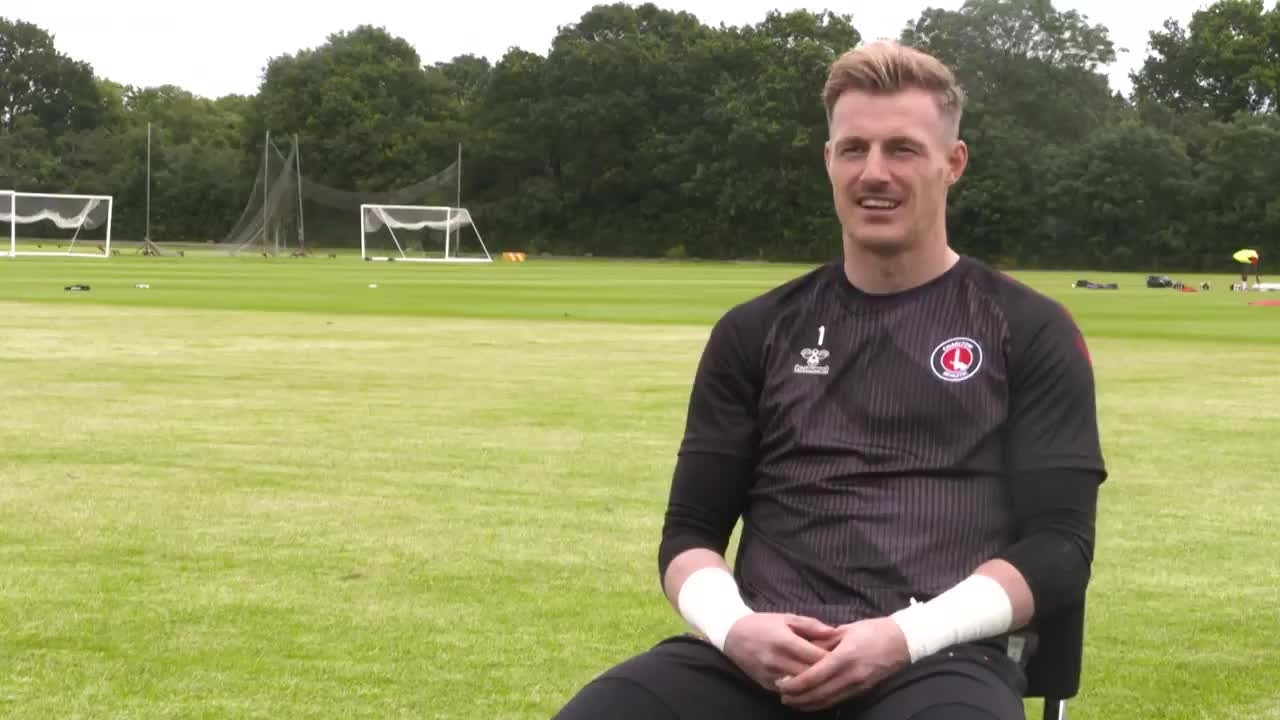 Craig MacGillivray on his first day at Charlton (June 2021)