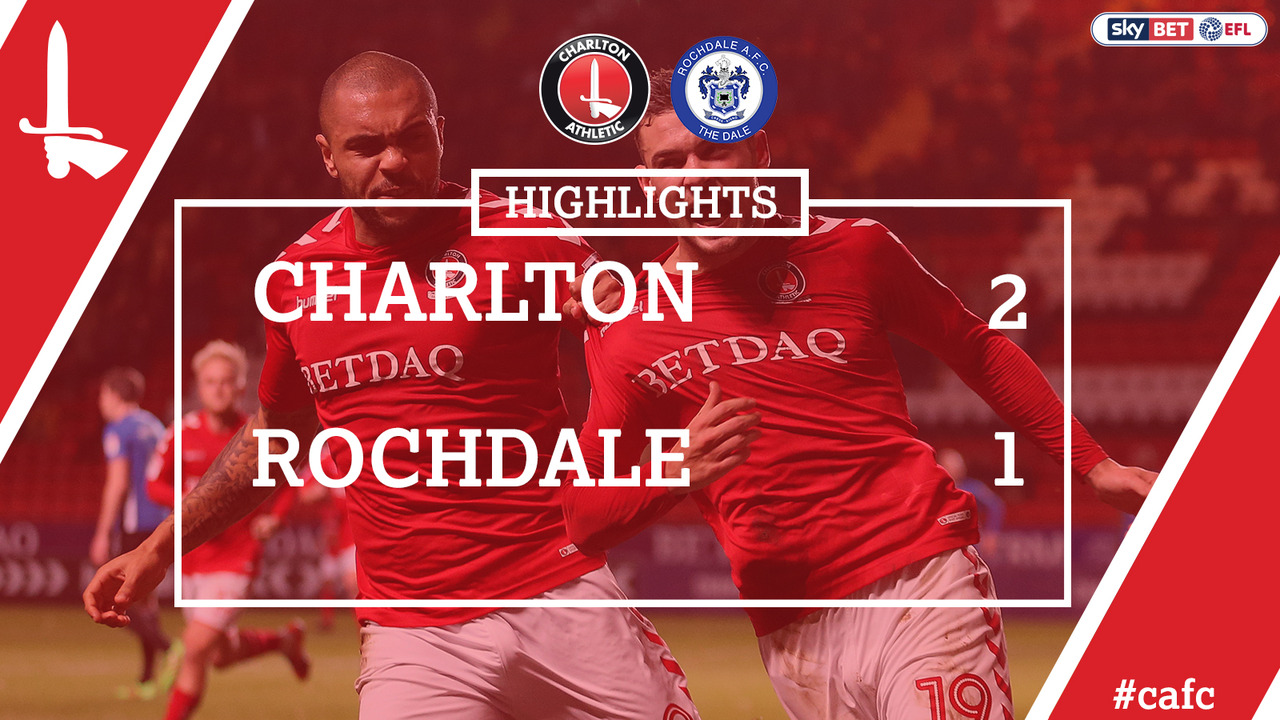 23 HIGHLIGHTS | Charlton 2 Rochdale 1 (Nov 2017)