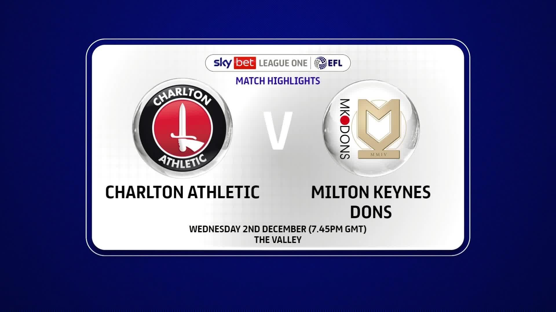HIGHLIGHTS | Charlton 0 Milton Keynes Dons 1 (December 2020)