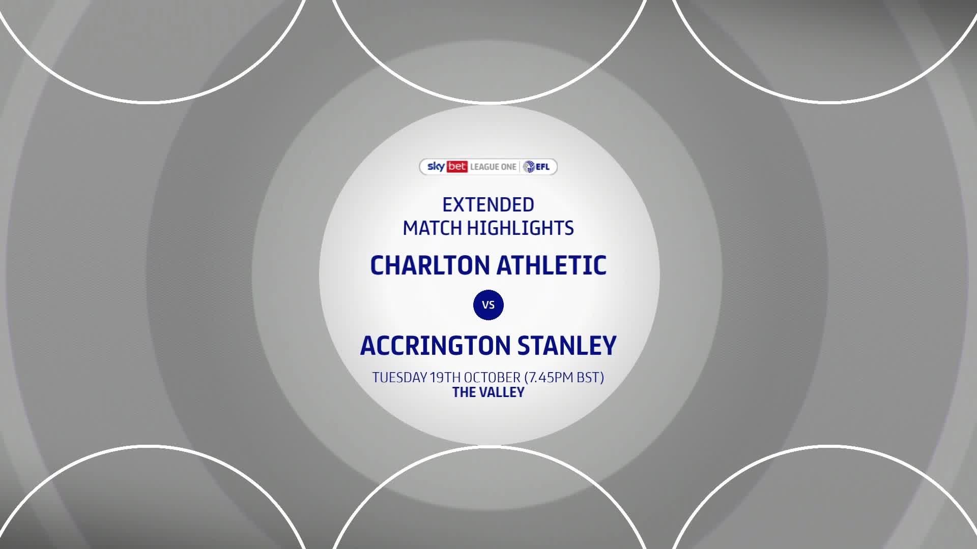 HIGHLIGHTS   Charlton 2 Accrington Stanley 3 (October 2021)