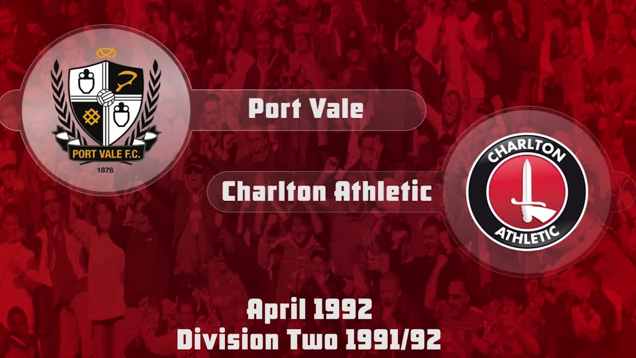 51 HIGHLIGHTS | Port Vale 1 Charlton 1 (April 1992)
