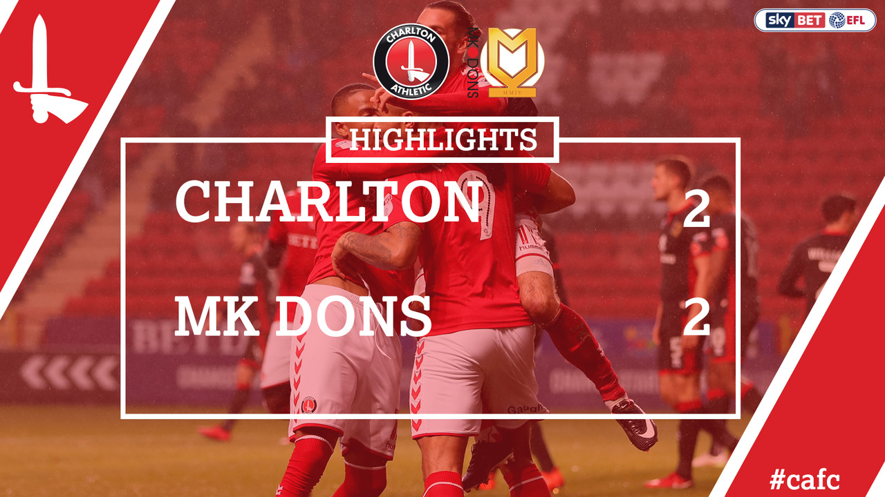 22 HIGHLIGHTS | Charlton 2 MK Dons 2 (Nov 2017)