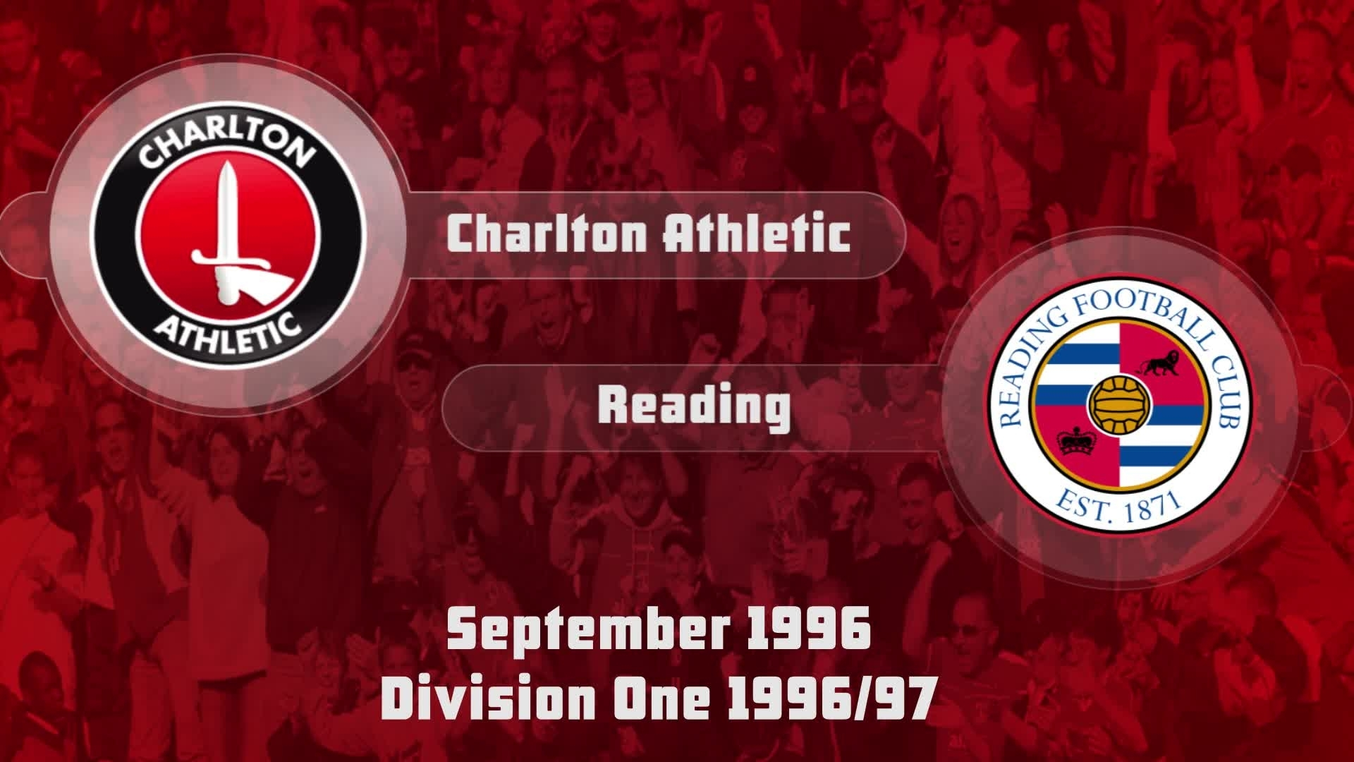 06 HIGHLIGHTS | Charlton 1 Reading 0 (Sept 1996)