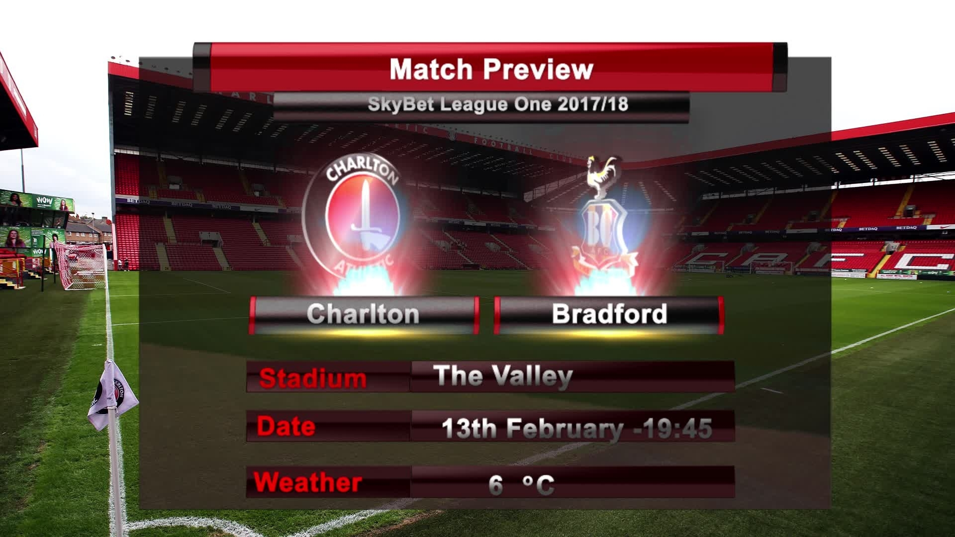MATCH PREVIEW | Charlton vs Bradford