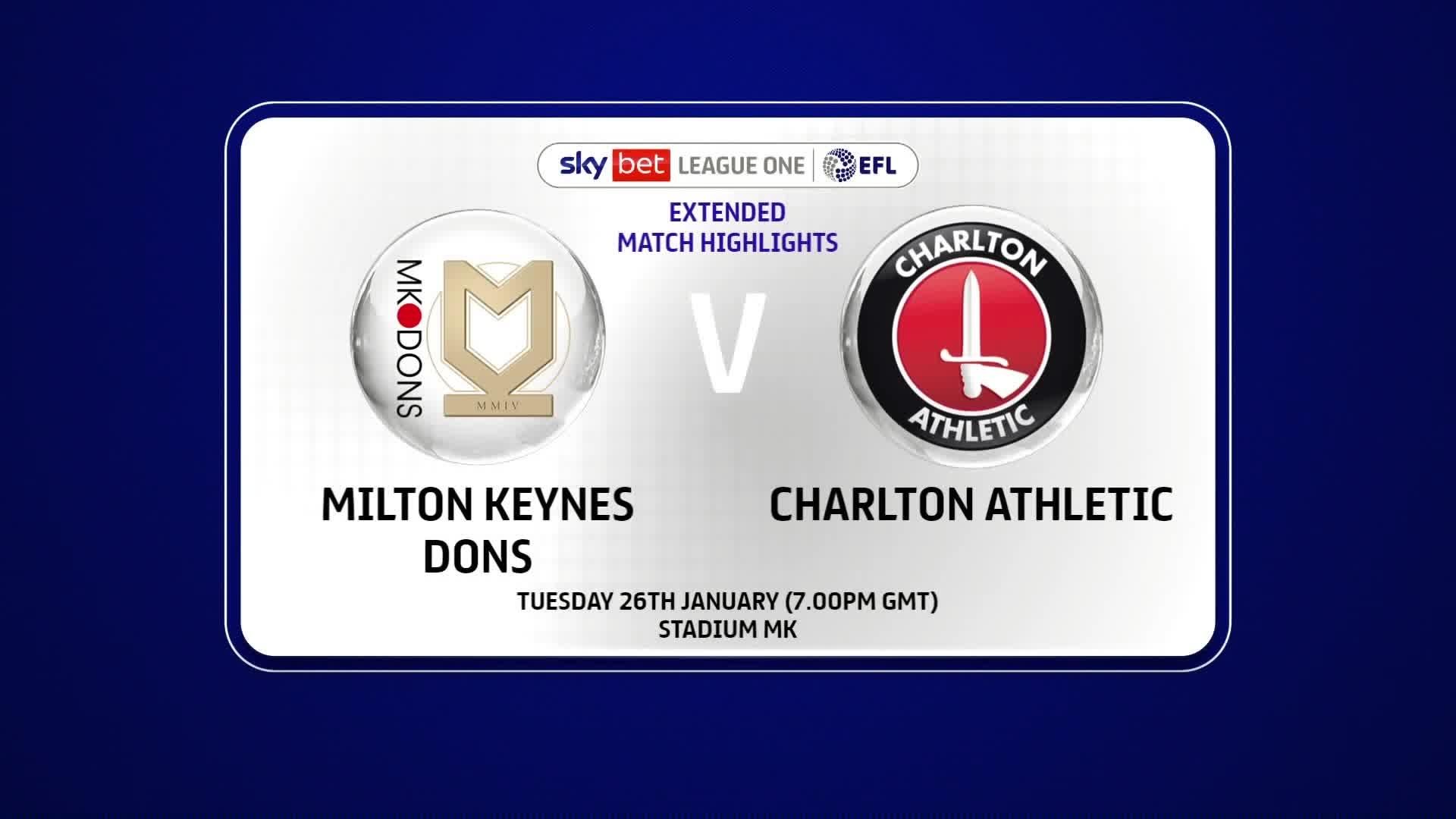 EXTENDED HIGHLIGHTS | Milton Keynes Dons 0 Charlton 1 (January 2021)