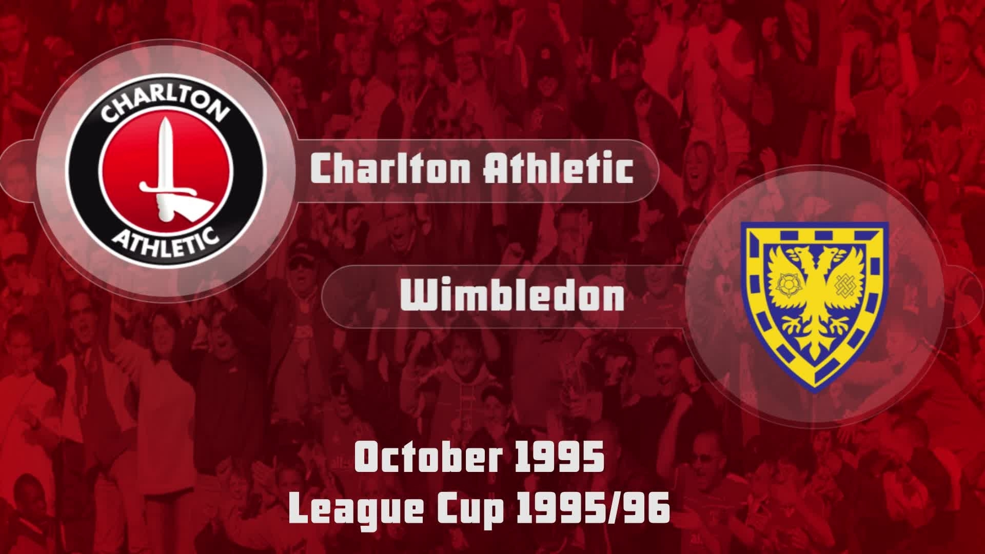 14 HIGHLIGHTS | Charlton 3 Wimbledon 3 (League Cup Oct 1995)