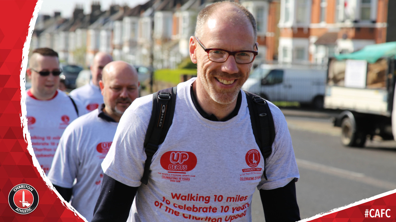 Simon Webster on taking part in his fifth annual Charlton Upbeats walk