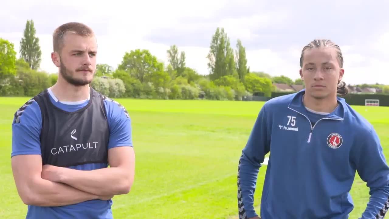 Charlie Barker and Jason Adigun on Friday's play-off final (May 2021)
