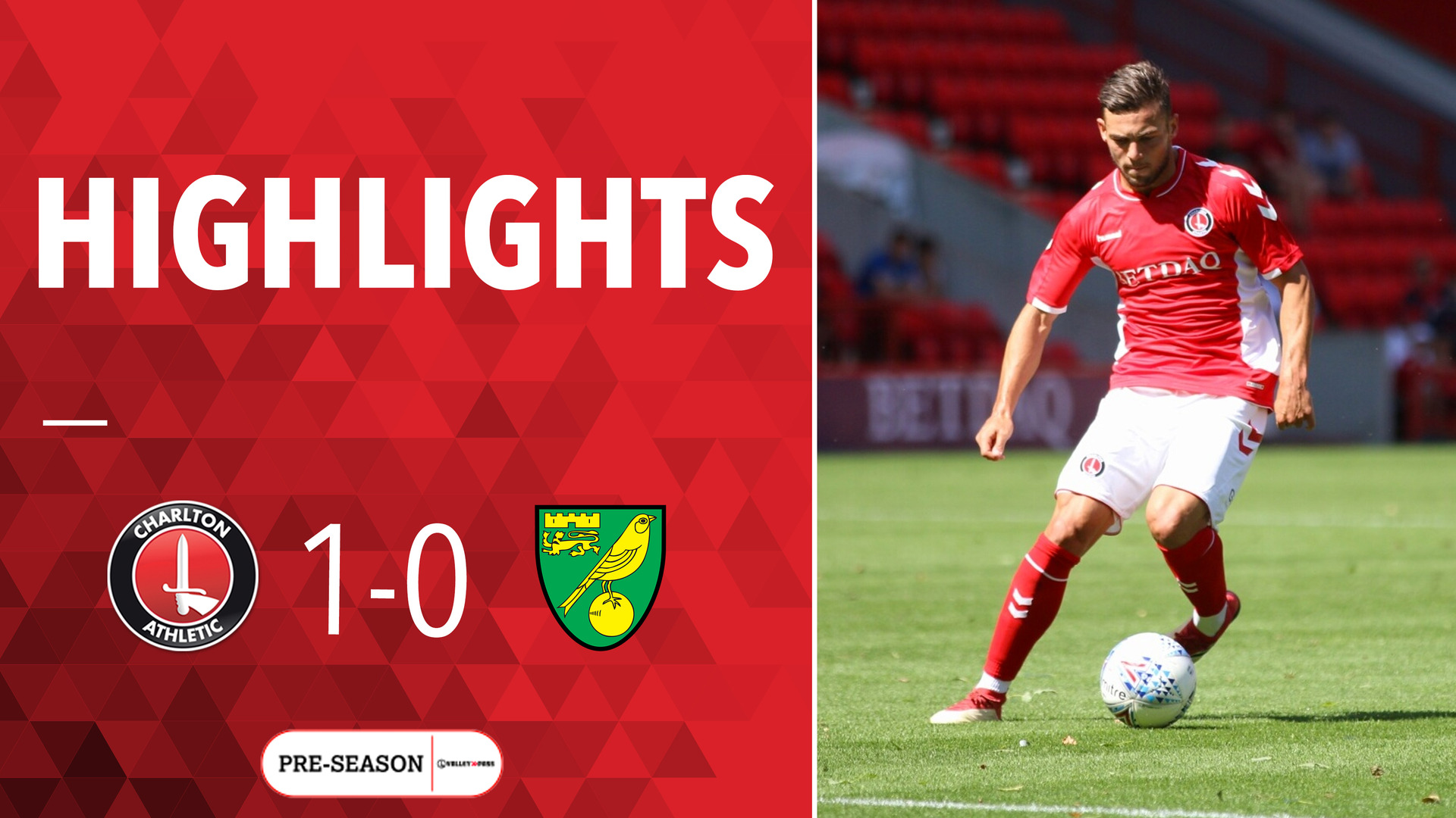 HIGHLIGHTS | Charlton 1 Norwich City 0 (Pre-season July 2018)