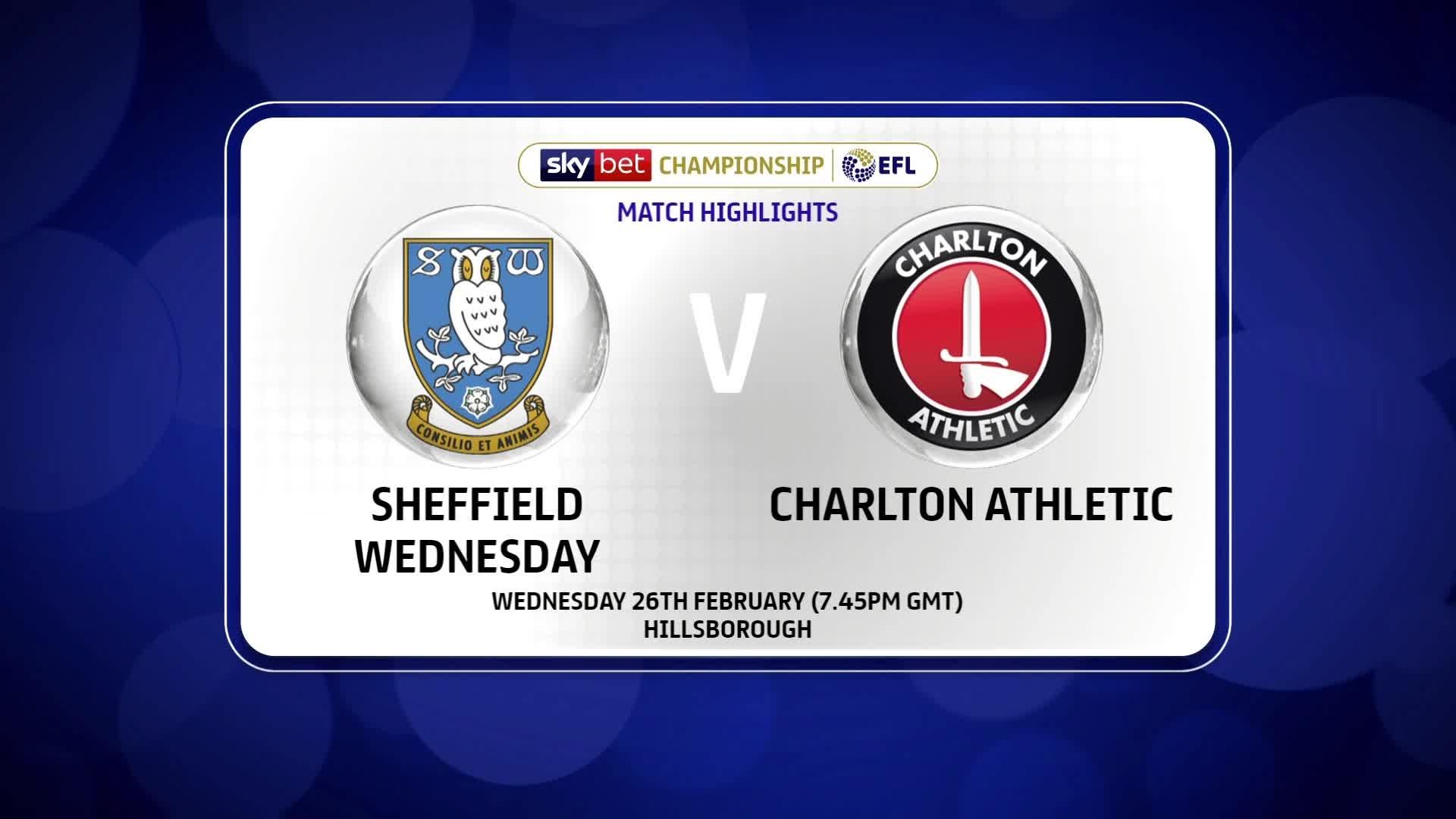 HIGHLIGHTS | Sheffield Wednesday 1 Charlton 0 (February 2020)
