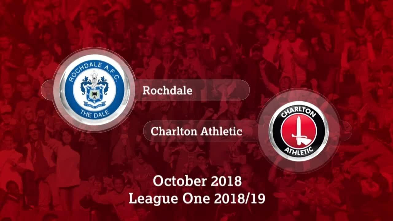 GOALS   Rochdale 1 Charlton 0 (October 2018)