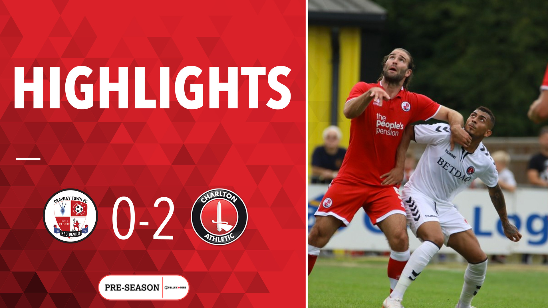 HIGHLIGHTS | Crawley Town 0 Charlton 2 (Pre-season July 2018)