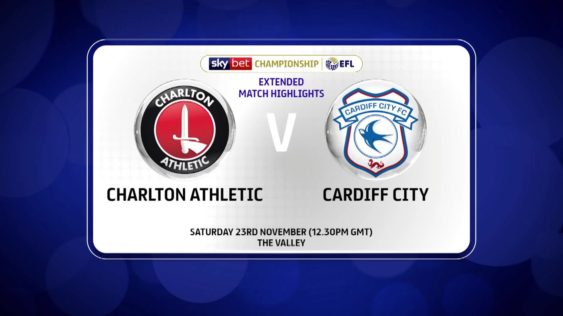 HIGHLIGHTS | Charlton 2 Cardiff City 2 (November 2019)