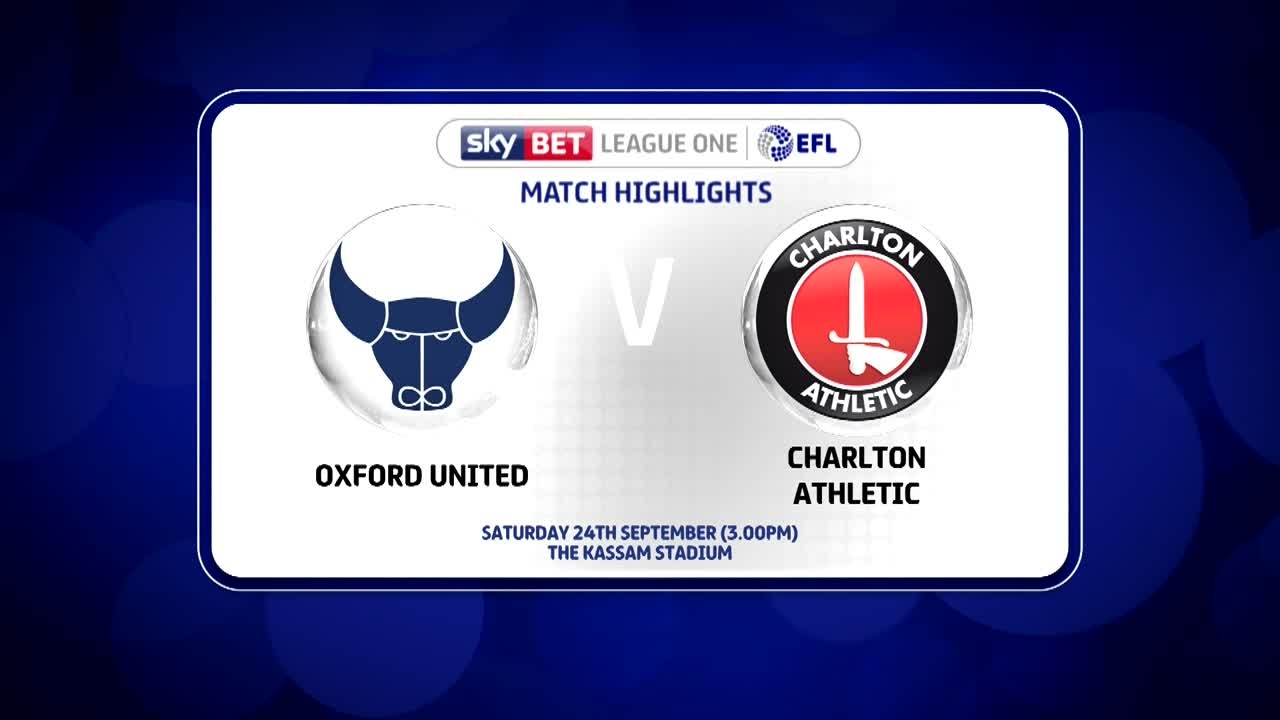 11 HIGHLIGHTS | Oxford 1 Charlton 1 (Sept 2016)