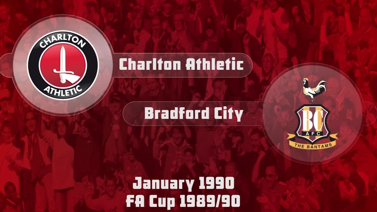 27 HIGHLIGHTS | Charlton 1 Bradford 1 (FA Cup Jan 1990)
