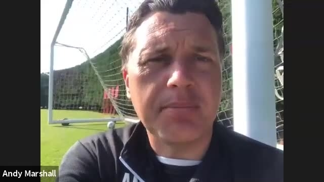 Andy Marshall on being back in training (May 2020)