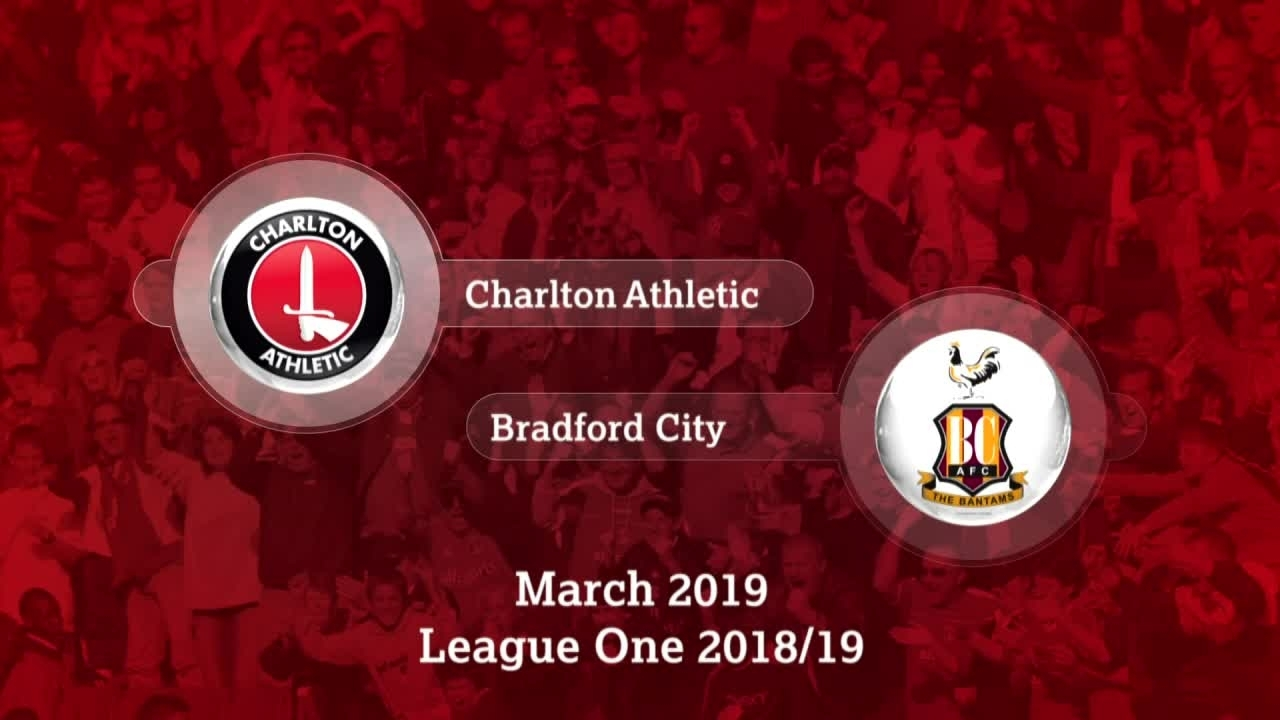 GOALS | Charlton 1 Bradford City 0 (March 2019)