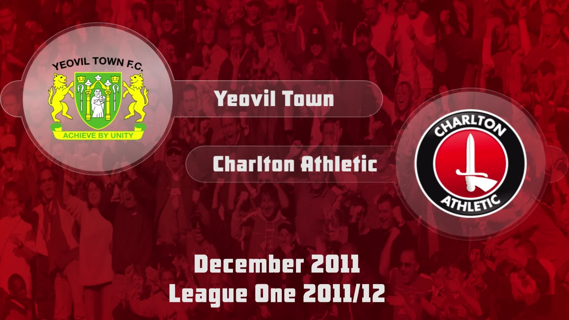 27 HIGHLIGHTS | Yeovil 2 Charlton 3 (Dec 2011)