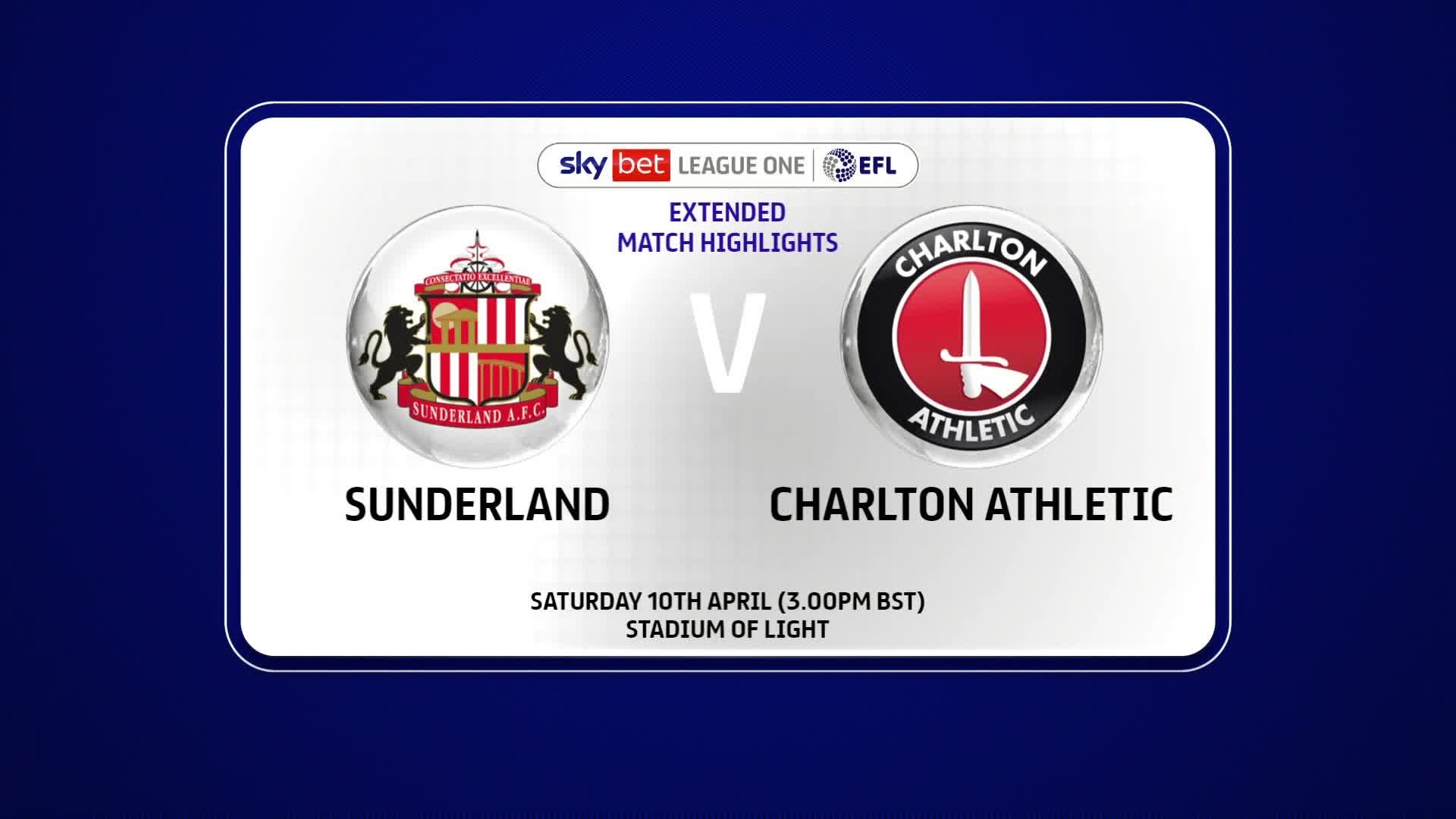 EXTENDED | Sunderland 1 Charlton 2 (April 2021)