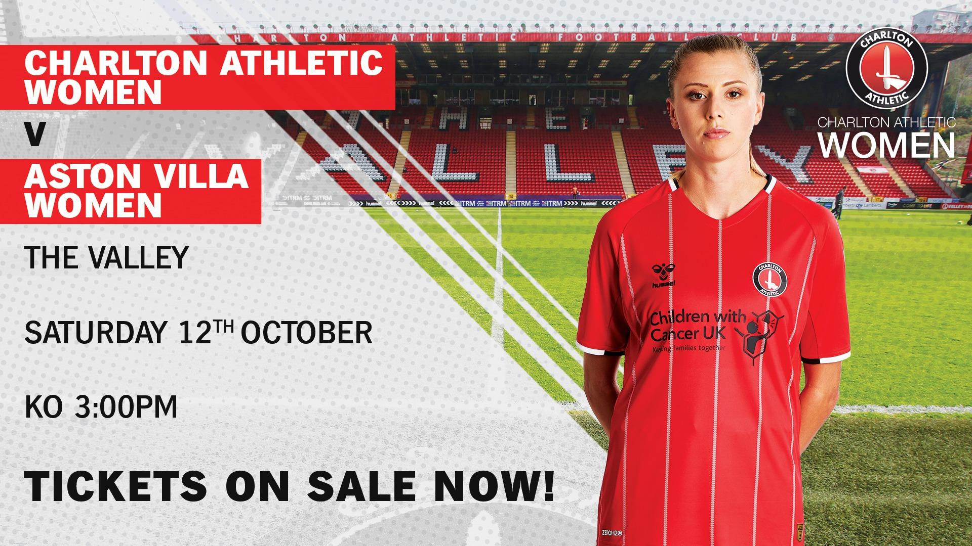 Charlton Athletic Women take on Aston Villa at The Valley!