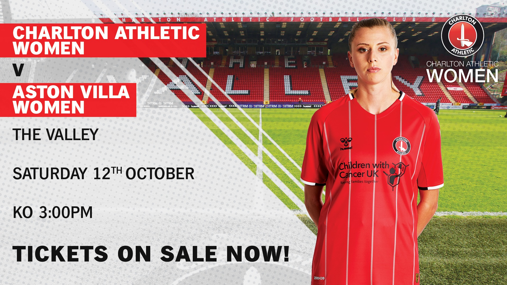 Charlton Athletic Women take on Aston Villa at The Valley!