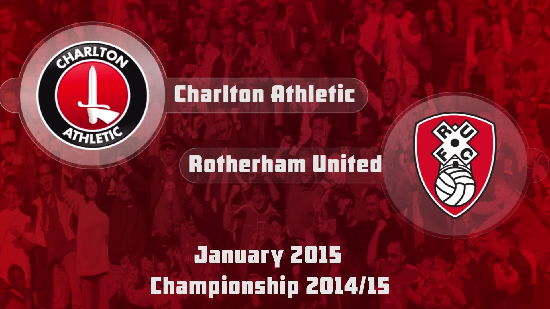 31 HIGHLIGHTS   Charlton 1 Rotherham 1 (Jan 2015)