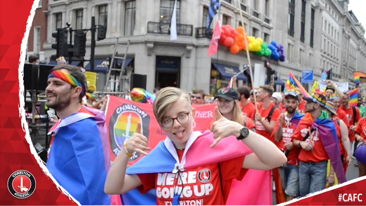 Charlton at Pride in London