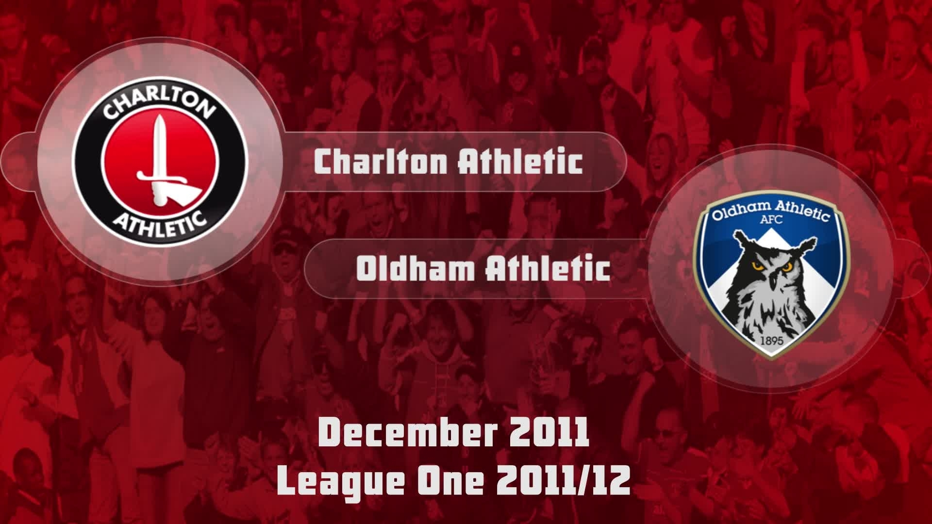 26 HIGHLIGHTS | Charlton 1 Oldham 1 (Dec 2011)