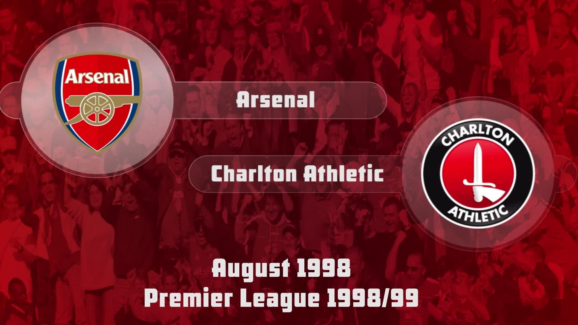 03 HIGHLIGHTS | Arsenal 0 Charlton 0 (Aug 1998)