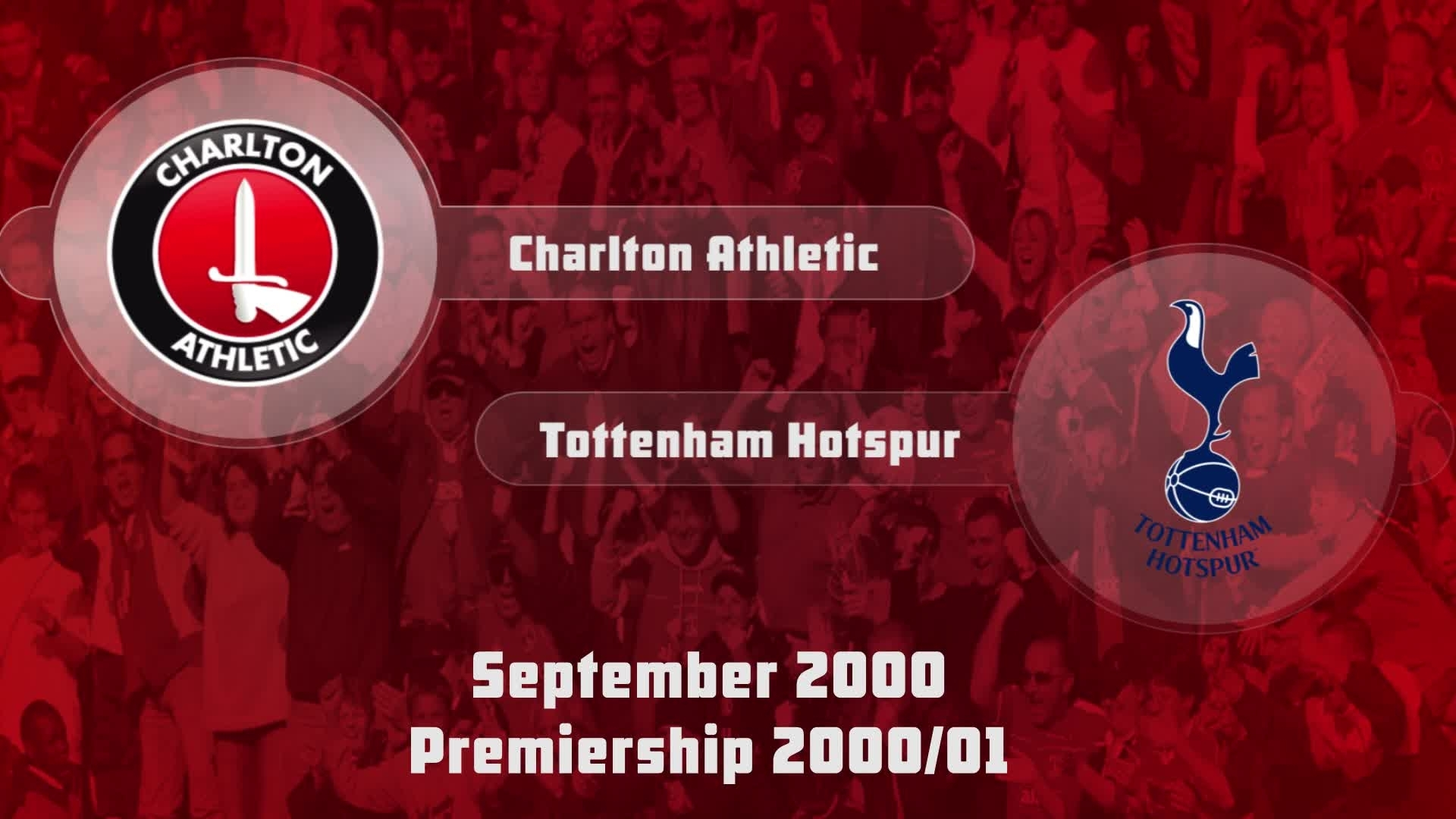 06 HIGHLIGHTS | Charlton 1 Tottenham Hotspur 0 (Sept 2000)