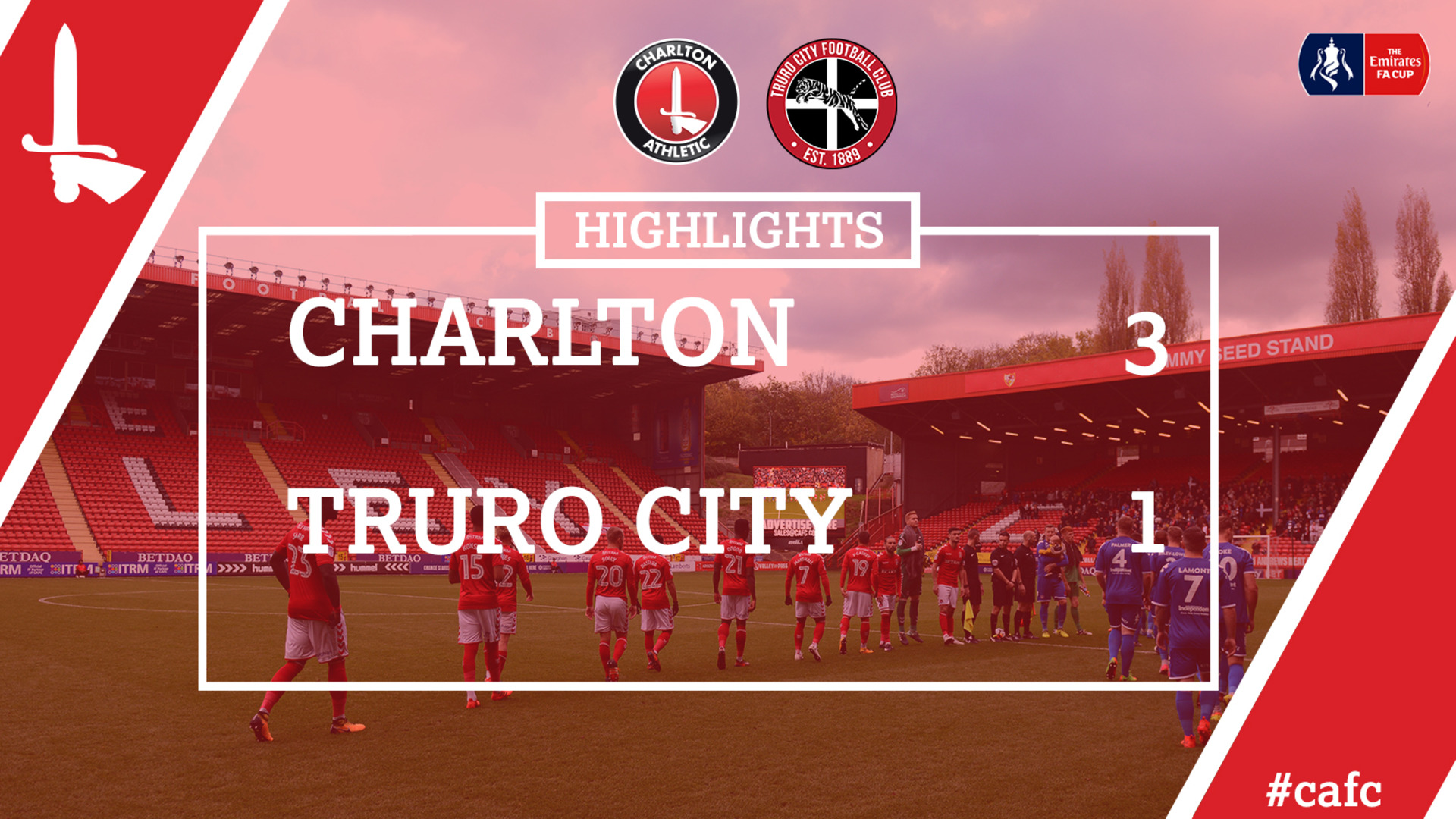 20 HIGHLIGHTS | Charlton 3 Truro City 1 (FA Cup Nov 2017)